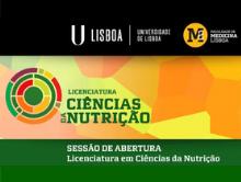 Sessão de Abertura da Licenciatura em Ciências da Nutrição