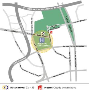 hospital santa maria lisboa mapa Faculdade de Medicina da Universidade de Lisboa | Contactos hospital santa maria lisboa mapa